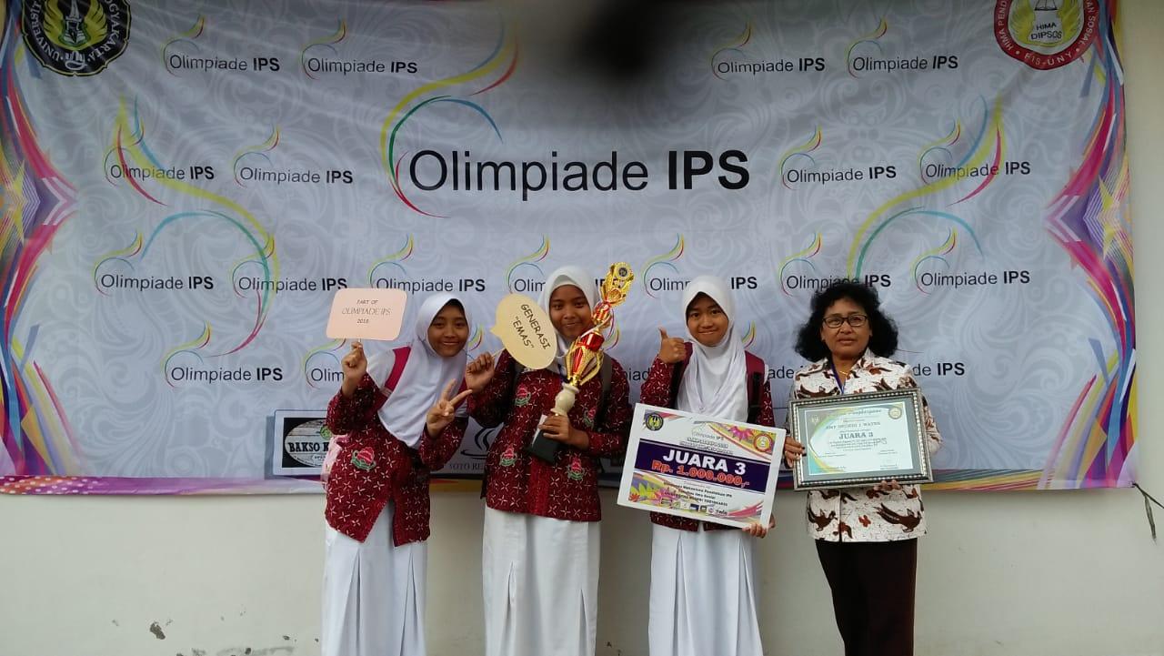 SMPN1Wates Raih Juara III LCC Olimpiade IPS se Jawa-Bali