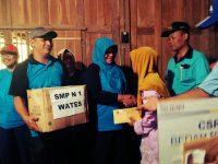 Gotong Royong Beji Wates, SMP N 1 Wates Bantu Bedah Rumah