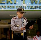 Menuju Kulon Progo Tertib Lalulintas, Kasatresnarkoba Menjadi Pembina Upacara